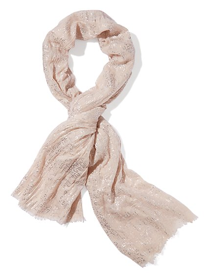Foil-Accent Scarf - New York & Company