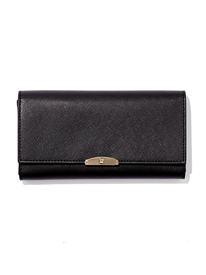 Foldover Logo Wallet - New York & Company