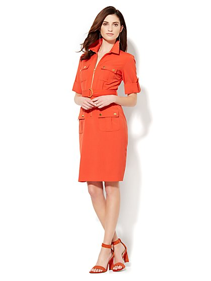 Four-Pocket Shirtdress  - New York & Company
