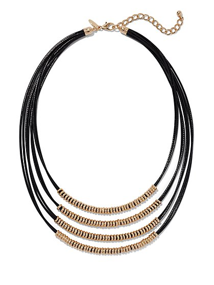 Four-Row Cord Necklace  - New York & Company