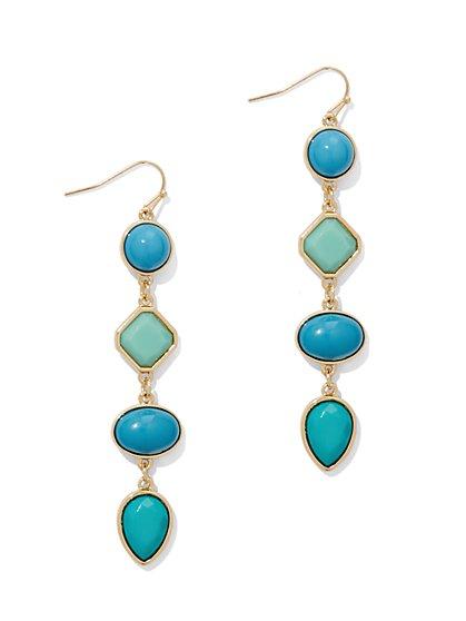 Four-Stone Linear Drop Earring  - New York & Company
