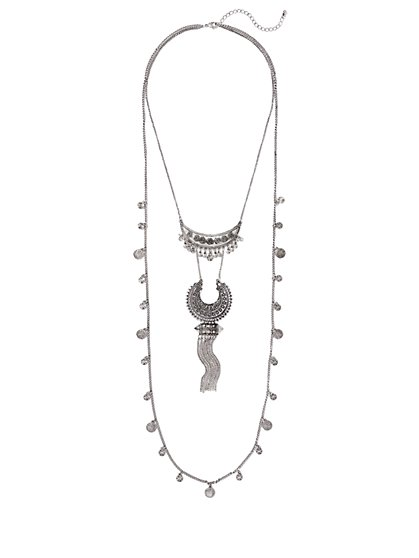 Fringe Double-Row Necklace  - New York & Company