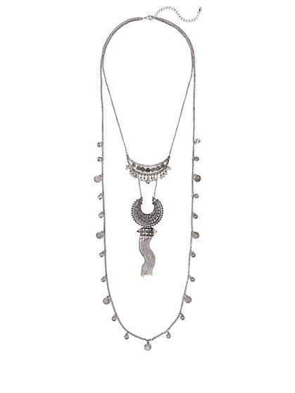 Fringe Double-Row Necklace  - New York & Company