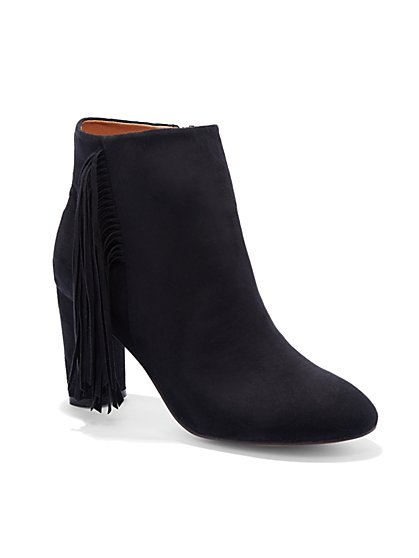Fringe Faux-Suede Bootie - New York & Company