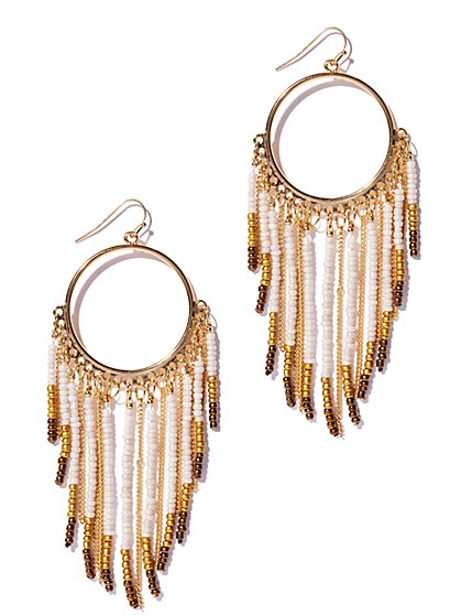 Fringe Hoop Earring  - New York & Company