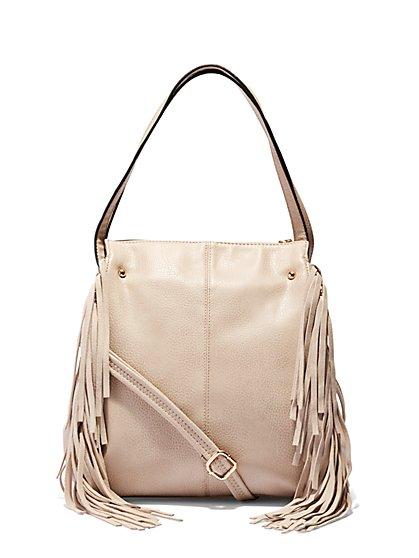 Fringe Pebblegrain Bag  - New York & Company