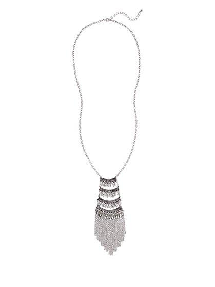 Fringe Pendant Necklace  - New York & Company