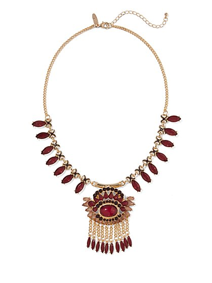 Fringe &  Pendant Necklace  - New York & Company