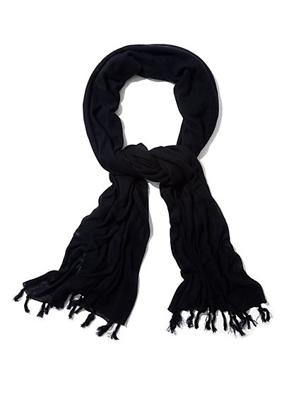 Fringe Scarf - Solid  - New York & Company