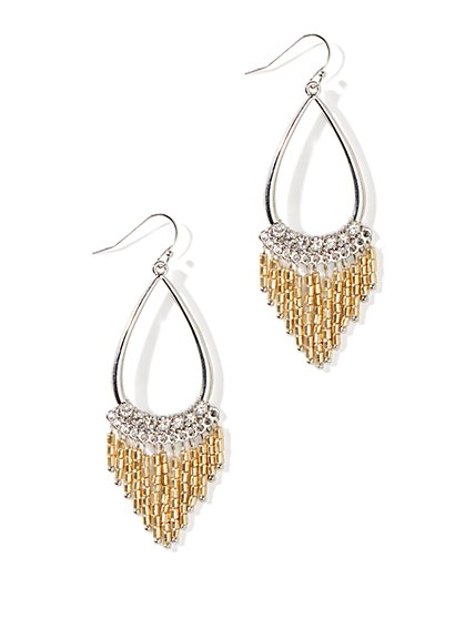 Fringe Teardrop Earrings - New York & Company