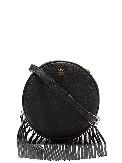 Fringe-Trim Circular Bag  - New York & Company