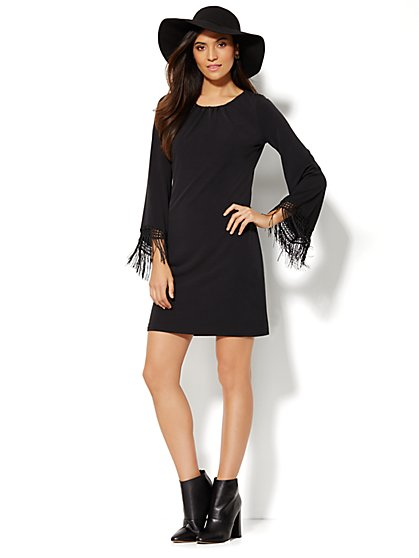 Fringe-Trim Dress  - New York & Company
