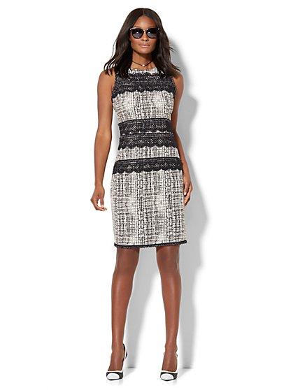 Fringe-Trim Sheath Dress  - New York & Company