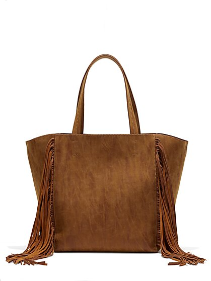 Fringe-Trim Tote  - New York & Company