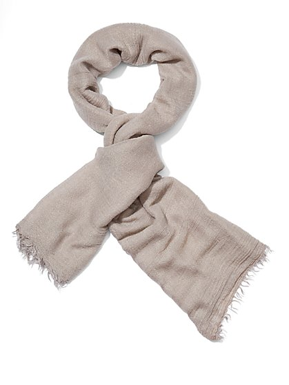 Fringed Lurex Scarf  - New York & Company