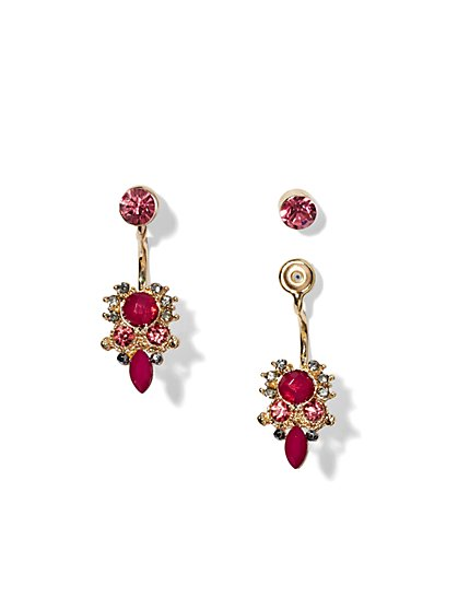 Front/Back Beaded Cluster Earring  - New York & Company