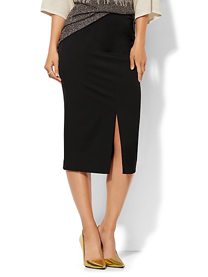 Front-Slit Pencil Skirt - SuperStretch  - New York & Company