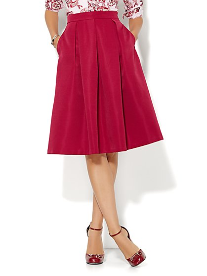 Full Pleated Skirt - Solid  - New York & Company