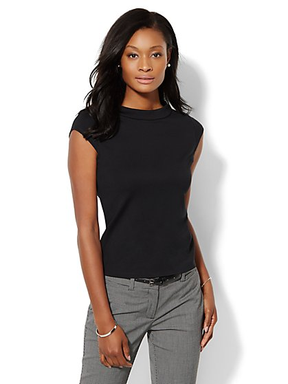 Funnel-Neck Top  - New York & Company