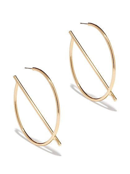 G-Shaped Hoop Earring  - New York & Company