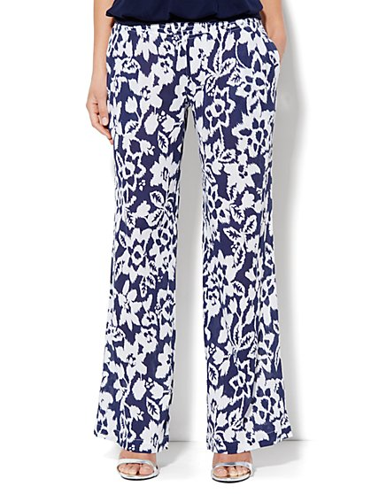 Gauze Floral Pant - New York & Company