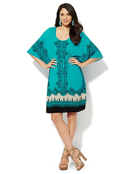 Gauze Kimono Dress  - New York & Company