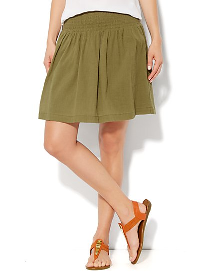 Gauze Mini Skirt - New York & Company