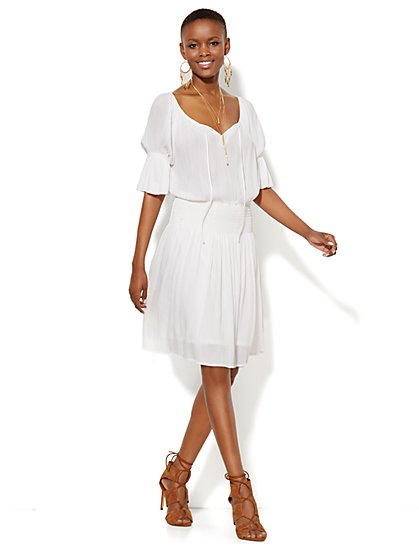 Gauze Peasant Dress  - New York & Company