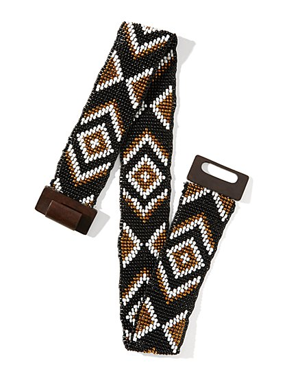 Geo Beaded Stretch Belt