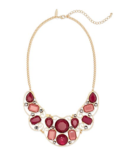 Geo Bib Necklace  - New York & Company