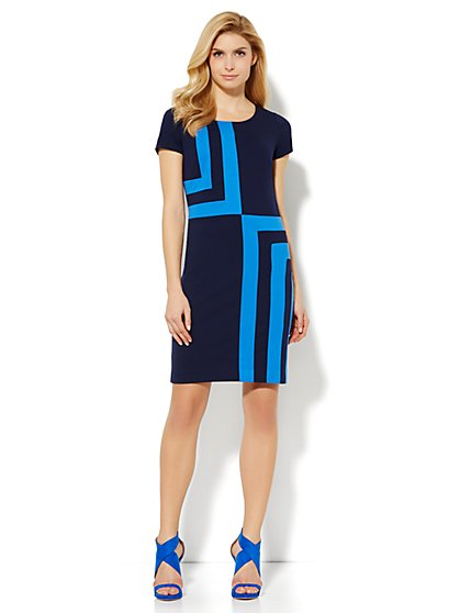 Geo Colorblock Sheath