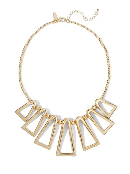 Geo Cutout Necklace  - New York & Company