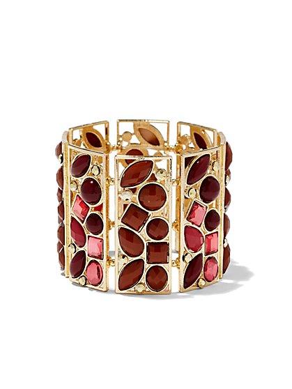 Geo Faux-Stone Cuff Bracelet  - New York & Company