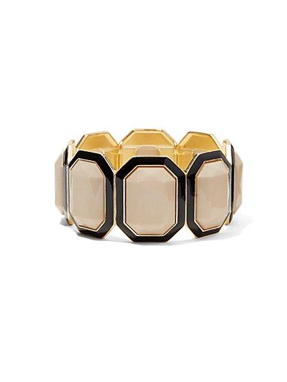 Geo Faux-Stone Stretch Bracelet  - New York & Company