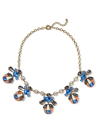 Geo Faux-Stones Necklace