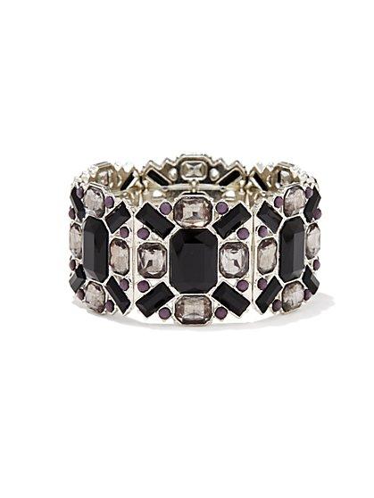 Geo Faux-Stones Stretch Bracelet - New York & Company