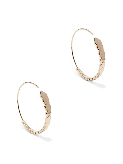 Geo Gradated Hoop Earring  - New York & Company