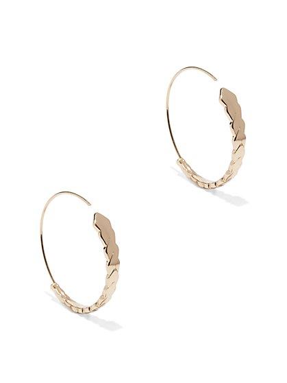 Geo Gradated Hoop Earring  - New York & Company