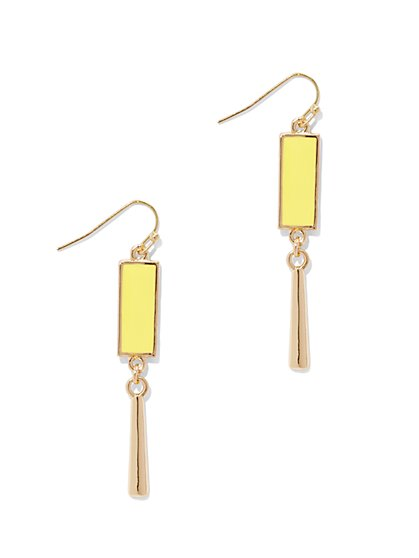 Geo/Linear Drop Earring  - New York & Company