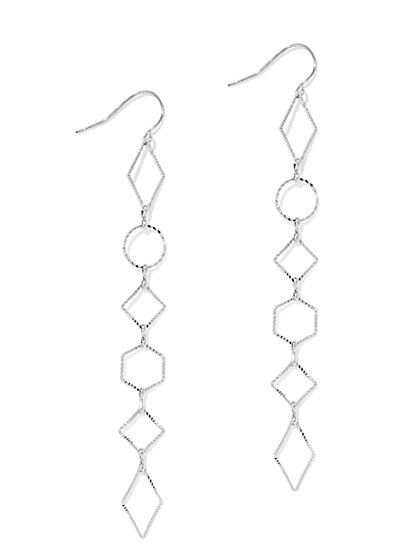 Geo Linear Drop Earring  - New York & Company