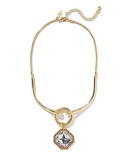 Geo Pendant-Drop Necklace - New York & Company