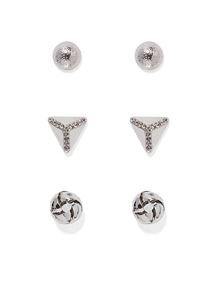 Geo Post Earring Set  - New York & Company