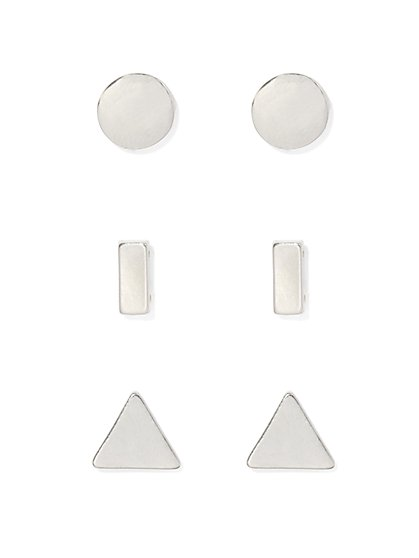 Geo Post Earring Set  - New York & Company