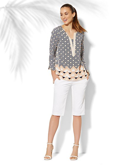 Geo-Print Tunic   - New York & Company