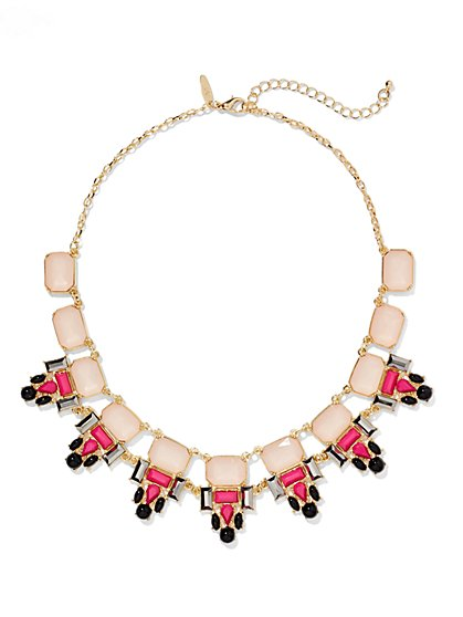 Geo-Shaped Faux- Stone Collar Necklace  - New York & Company