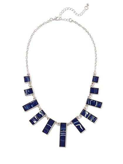 Geo Silvertone Necklace - New York & Company