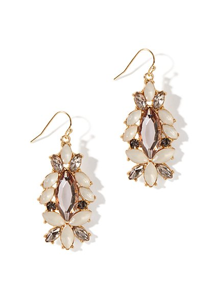 Geo Stones Drop Earrings