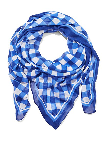 Gingham Print Scarf - New York & Company