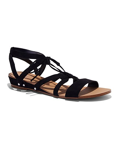 Gladiator Wedge Sandal  - New York & Company