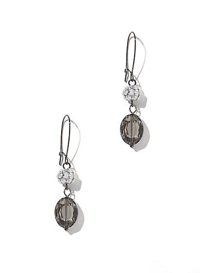 Glass-Accent Linear Drop Earring  - New York & Company